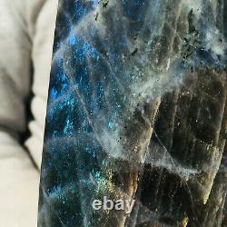 990g Natural Purple Labradorite Crystal Piece Rough Healing Specimen