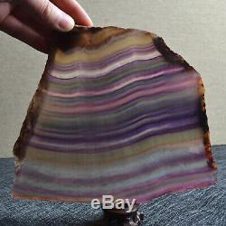 A9822-Natural Rainbow Fluorite slice Crystal Quartz slab Piece Healing Specimen
