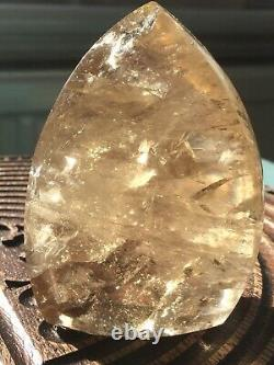 AAA Citrine Crystal Rainbows Point VERY GOLDEN this piece 327g CONGO