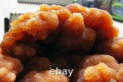 ARAGONITE BOTRYOIDAL RED to ORANGE CRYSTALS on MATRIX from PERÚ. WONDERFUL PIECE