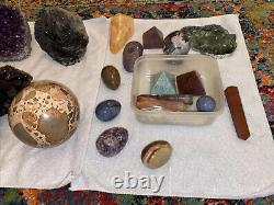 All Natural Gems Crystals Lot. 20 Pieces In All