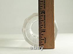 Antique Art Nouveau 3 Piece Powder Shaker-crystal Jar, Sterling Shaker Top, LID