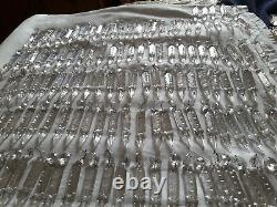 Antique Czech long cut luster spear crystal glass 138 pieces size 3.75 total