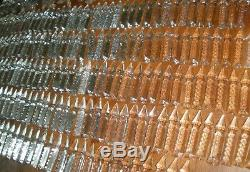 Antique French long cut luster spear crystal glass 100 pieces huge lot 3