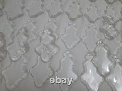 Antique French pendalogue crystal glass parts 50 pieces 5 for old chandeliers
