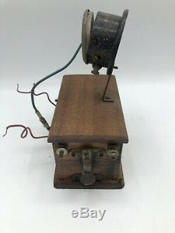 Antique Spark Gap Transmitter Vintage Crystal Radio 2 Pieces Untested