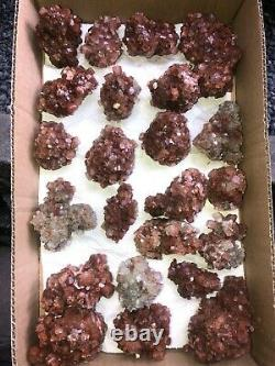 Aragonite Clusters WHOLE FLAT- 25 pieces Approx. 3.8 kg Morocco Mineral