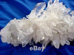 Arkansas Quartz Crystal Cluster Burr Square Back Beauitful, Collector Piece