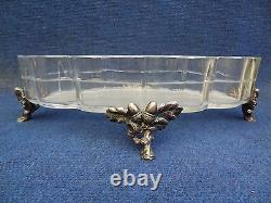 BACCARAT, FRENCH, NIII Silvered Bronze and Baccarat Crystal Centre Piece 1860
