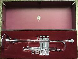 Beautiful Crystal Trumpet Royales De Champagne Art Piece Mint Box France Music