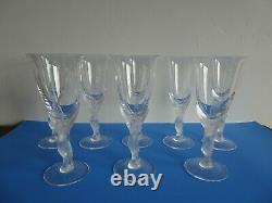 Beautiful Igor Carl FABERGE Kissing Dove Champagne Crystal Stem 8 Piece Set