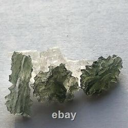Besednice Moldavite Lot 6.38g, 31.9ct 9 small pieces Free Amethyst Crystal