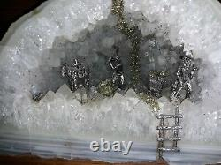 Big 8 1/4inch Prestine White Quartz Crystal Geode Miner Figurines Stunning Piece