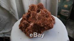 Big Large Natural Crystal Red Pink aragonite cluster Spectacular piece 3.7 kilo
