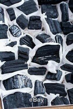 Black Tourmaline Crystals Lot Of 41 Pieces From Brazil