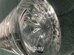 Block Crystal Decanter Coil pattern Clear Barware Cut Spiral Around Piece Large