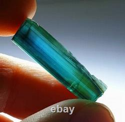 Bluish green facet grade clean indicolite tourmaline piece slightly included