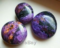 CHAROITE polished pebbles 3 pieces(265gr.)