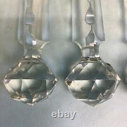 Chandelier or Lustre Prisms Crystal 3 Pieces Ball End 10 Long