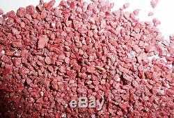 Cinnabar Single Crystal Stone up to 1 Carat Tiny pieces 1 KG Lot