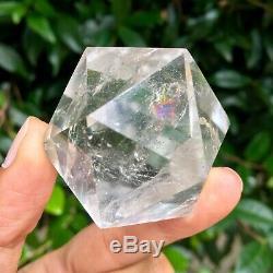 Crystal Quartz Icosahedron Lot Of 3 Pieces