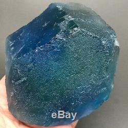 D4 900g Translucent Large Piece Blue Green Fluorite Crystal Mineral Specimen