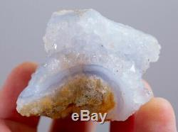 Druzy Blue Chalcedony Geode Lot Of 35 Pieces From Malawi