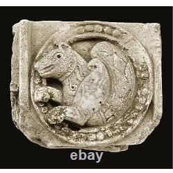 Early 7th-8th Century Persian Sassanian Rock Crystal Knight Chess Piece Senmurv