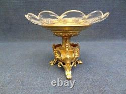 FRENCH, NIII gilt Bronze and Crystal Centre Piece Dragon Neoclassical style 1860