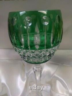Faberge Xenia Imperial Crystal Wine Glasses Engraved NIB 4 Piece Set