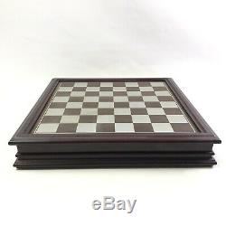 Fantasy Of The Crystal Chess Set Danbury Mint Pewter Pieces