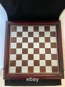 Fantasy Of The Crystal Chess Set Danbury Mint Pewter Swarovski Crystal Pieces