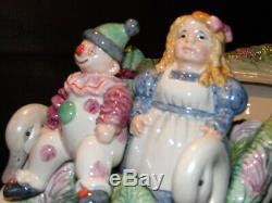 Fitz And Floyd Winter Crystal Cookie Jar Christmas Sleigh Beautiful, Rare Piece