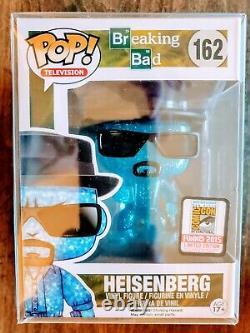 Funko Pop Heisenberg BLUE CRYSTAL METH version SDCC 500 piece LE