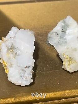 Gold, quartz, stibiconite 2 Pieces Total 20 Grams Im not 100 Percent Stone