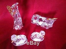 Gorham Crystal Nativity collection including OX & two rams 13 pieces in all
