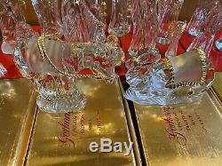 Gorham Nativity Crystal Set 16 Pieces Rare Innkeeper, Drummer, Millennium Angel