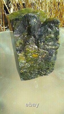 Green Australian Prehnite Semi Transparent Piece Cut & Polished 19.7 Pounds