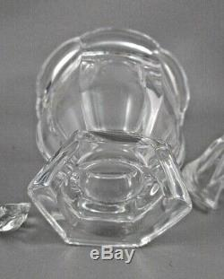 HOTEL RITZ Paris France 3 Piece Crystal Jam / Condiment JAR with SPOON MINT