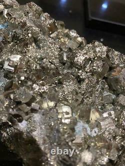 HUGE Pyrite Druzy Piece 4, Premium Grade, High Quality 2.188kg L18xW12xH7cm