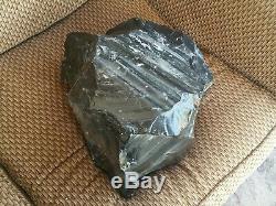 HUGE Raw Pure Obsidian Piece 66lb Black Large Natural Boulder