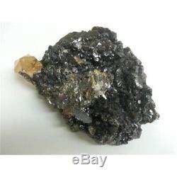 Huge Golden Calcite & Sphalerite Specimen in Two Pieces (9.68lb, 6.72lb) 16.40lb