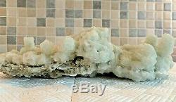 Huge Green Halite Mineral Display Piece Complete With Stand As Shown