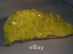 Huge Piece Yellow Sulphur From Madagascar Mineral Gem
