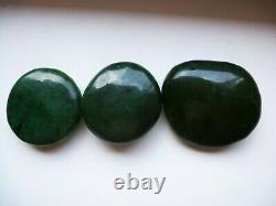 JADE Sayan polished pebble 3 pieces (255gr.)