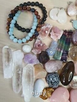 Job Lot wholesale bulk crystals gemstones spheres 57 pieces 1kg