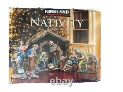 KIRKLAND SIGNATURE CHRISTMAS NATIVITY WithCRYSTAL ACCENTS 18 PIECE SET