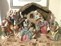 KIRKLAND SIGNATURE CHRISTMAS NATIVITY WithCRYSTAL ACCENTS 18 PIECE SET