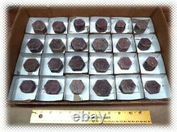 Large 24 Piece Lot Red Ruby Crystal / Some With Record Keepers