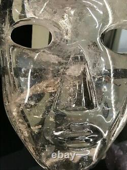 Large Carved Crystal Face Mask 9 Display Piece Quartz Only One on eBay Must See